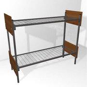 Кровати металлические двухъярусные для рабочих,  низкие цены